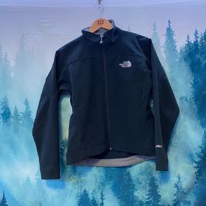 The North Face women's black zip up outdoor jacket
